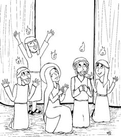 Tongues of Fire Coloring Pages | Pentecost Coloring Pages