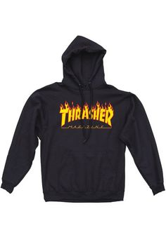 c4302b5e797e The Flame Hoodie from Thrasher Magazine. Heavyweight, 90% cotton 10%  polyester hooded