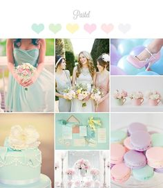pastel wedding palette... pastel color theme... spring colors.. easter wedding