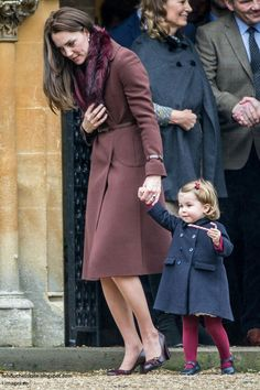 Christmas Day 2016 at Kate's family church in Berkshire Coat - Hobbs (fifth appearance) Fur Collar - ASOS Clutch - Mulberry (seen in other photos) Shoes - Tod's (I hate these!)