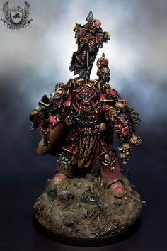 Warhammer 40K Forgeworld Lord Zhufor Chaos Khorne Champion Propainted | eBay