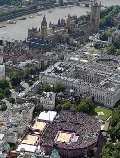 Horse Guards Parade: Organisers somehow managed to sandwich a huge 11,000 seat beach volleyball stadium into the packed streets around Westminster and the royal palaces