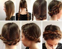 DIY Wedding hair style - halo braid