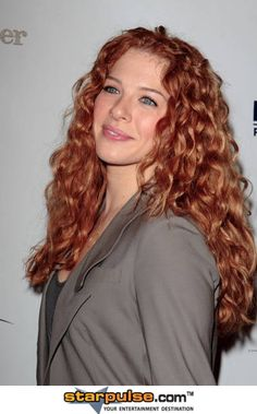 I envy Rachelle Lefevre for her gorgeous, natural red, naturally curly hair.