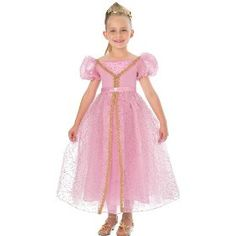 Childs Pink Princess Gown Costume for Girls