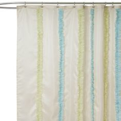 Aria Blue And Green Fabric Shower Curtain