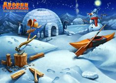 Backgrounds for game by Николай Тюлин, via Behance