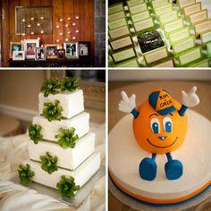 Piedmont Park Wedding, Atlanta Wedding, Park Tavern, Otto groom's cake, green wedding cake flowers