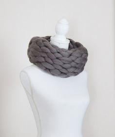 Chunky knit scarf, chunky snood Cowl Wrap Shawl Large Oversized Cowl Hand…