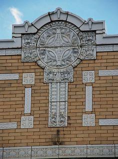 Sullivanesque Facade Detail. Melrose Park, Illinois.