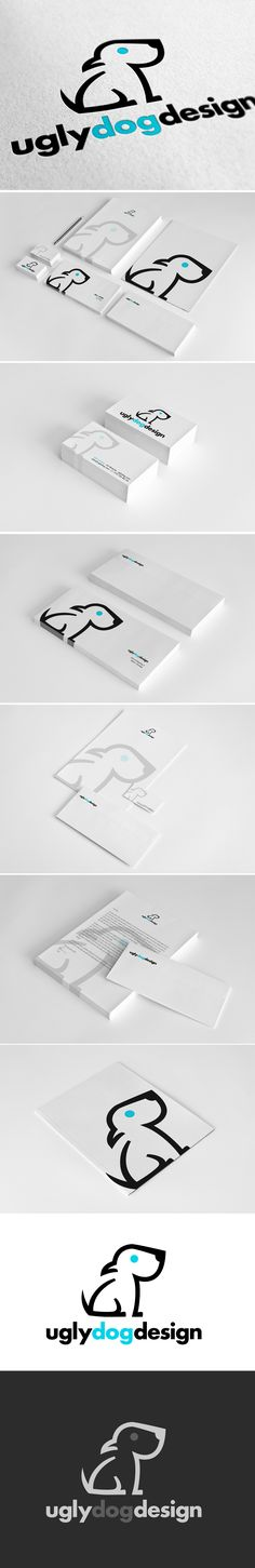 Ugly Dog Design / rebranding by nastek | #stationary #corporate #design #corporatedesign #logo #identity #branding #marketing <<< repinned by an #advertising agency from #Hamburg / #Germany - www.BlickeDeeler.de | Follow us on www.facebook.com/BlickeDeeler