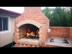 Outdoor Fireplace Designs, Backyard Fireplace, Barbecue Design, Grill Design, Barbecue Four A Pizza, Barbecue Chicken, Barbecue Sauce, Barbecue Shrimp, Chicken Pizza