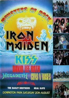 Monsters of rock concert posters | Castle Donington Raceway.