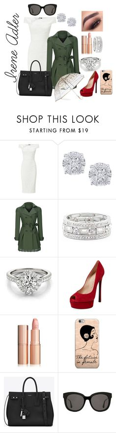 """Irene Adler"" by baritone-roe on Polyvore featuring Roland Mouret, Effy Jewelry, WithChic, Sole Society, Casadei, Yves Saint Laurent, Gentle Monster and ShedRain"