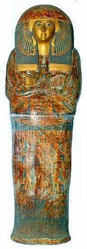 coffin Maatkare Mutemhat, God's Wife of Amun, sister of Psusennes I from the 21st Dynasty