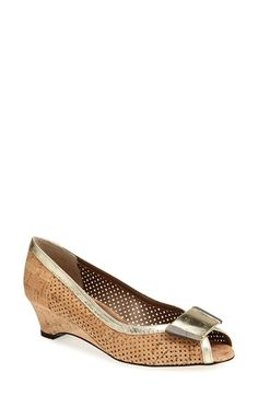 VANELi 'Bonnee' Perforated Open Toe Pump (Women) (Special Purchase) available at #Nordstrom #size13