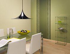 Stilvoller Essbereich mit Grüntönen. Gestaltung durch die Stegemann GmbH in Hagen (58093) | Maler.org