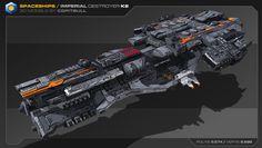 ArtStation - Heavy Spaceships 01, Stephane Chasseloup
