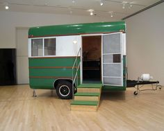 Andrea Zittel, A to Z 1995 Travel Trailer Unit Customized by Andrea Zittel and Charlie White, 1995 Classic Campers, Classic Trailers, Vintage Campers Trailers, Vintage Caravans, Camper Trailers, Tiny Trailers, Tin Can Tourist, Camping Glamping, World Of Interiors