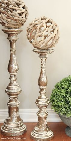 Candlestick topiary