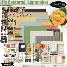Life Captured: September digital scrapbooking kit by Jennifer Labre Designs