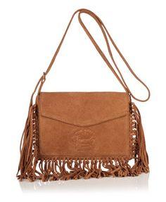 70521a203f1e Superdry Premium Suede Neo Nomad Fringed Shoulder Bag Tote Backpack