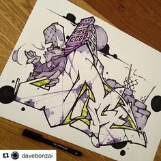 Fantastic graffiti by Use for a chance to get featured! Graffiti Piece, Graffiti Tagging, Graffiti Artwork, Graffiti Drawing, Graffiti Styles, Graffiti Lettering, Street Art Graffiti, Graffiti Artists, Stencil Street Art