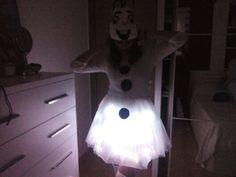 Diy olaf costume light