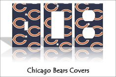 Chicago Bears  NFL  Light Switch Covers by TheOlSwitcheroo on Etsy