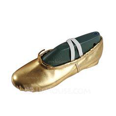 Women's Kids' Leatherette Flats Ballet Dance Shoes (053076380)