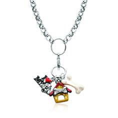 Dog Lover Charm Necklace in Silver - Save 20% off at WhimsicalGifts.com with Code: PINIT20