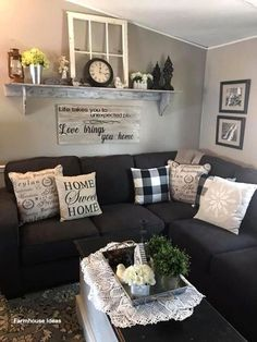 farmhouse living room decor ideas for a comfortable home ., farmhouse living room decor ideas for a comfortable home Cozy Living Rooms, Apartment Living, Living Room Furniture, Rustic Furniture, Furniture Design, Modern Furniture, Antique Furniture, Furniture Ideas, Outdoor Furniture