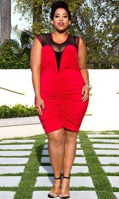 a5318fda7e2 Roxanne Plunge Dress in Red  69.90 by SWAK Designs Size Appeal Collection   swakdesigns  PlusSize