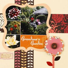 Repeat the Collage Shape with a Cardstock Mat