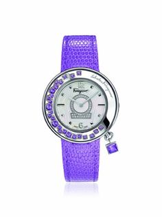 5c88478b967 Ferragamo Women s FF5050013 Gancino Sparkling Purple Stainless Steel Watch