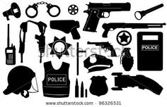 POLICE clip art/ sihouettes
