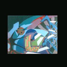 Abstracionismo Lírico - Lyrical Abstract Painting - Artista: Eduardo Dhelomme - Brasil