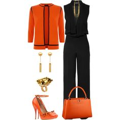 A fashion look from March 2015 featuring Jaeger cardigans, Haider Ackermann jumpsuits and Viktor & Rolf pumps. Browse and shop related looks. 60 Fashion, Work Fashion, Cute Fashion, Fashion Looks, Womens Fashion, Stylish Work Outfits, Classy Outfits, Chic Outfits, Fashion Outfits