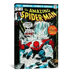 iCanvasART Marvel Comic Book SpiderMan Issue Cover No151 Canvas Art Print 18 by 12Inch -- You can find out more details at the link of the image.Note:It is affiliate link to Amazon. #commentbackteam