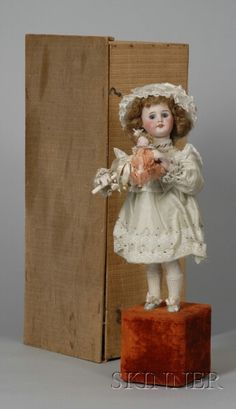 Lambert Bebe Bonne Automaton in Rare Original Box | Sale Number 2355, Lot Number 632 | Skinner Auctioneers