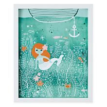The Land of Nod | Kids Wall Art: Mermaid Lagoon Artwork in Unframed Wall Art