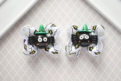 Tiny Spider Hair Bows Itsy Bitsy Spider Bow Small by SpunkyBunny