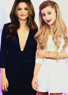 Selena Gomez and Ariana Grande, wow my 2 idols together!!!!!