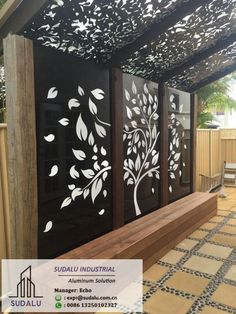 Backyard Garden Design, Patio Design, Backyard Patio, Backyard Landscaping, Wall Design, Outdoor Wall Art, Outdoor Walls, Outdoor Living, Outdoor Decor