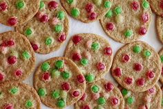 Christmas M&M Cookies - What's Gaby Cooking