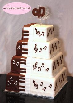 Music Cake. #music #cakes #musiccakes http://www.pinterest.com/TheHitman14/music-cakes-food-%2B/