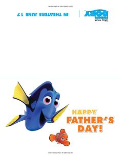 Disney/Pixar's Finding Dory swims into theatres June Disney Holidays, Finding Dory, Theatres, Happy Fathers Day, Disney Pixar, Party Themes, Preschool, June, Arts And Crafts