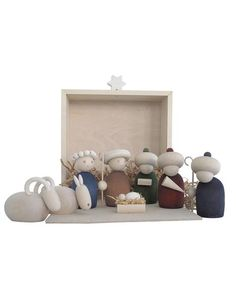 Aarikka Nativity. £195 (Finland) This charming nativity scene is hand-crafted from natural materials. Size of the box: 21 × 25.5 cm, material: wood.