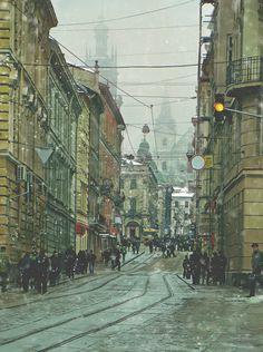 snow Lviv Ukraine