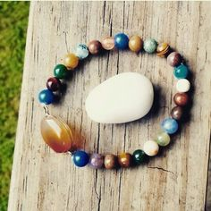 "Jun E Caniel ""Free To Be"" bracelet made from fancy jasper and agate. www.jcaniel.com #repurposed #upcycle #sustainablejewelry"